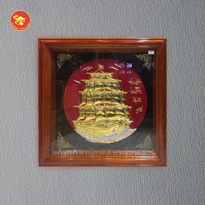 Tranh đồng Thuận Buồn Xuôi Gió khổ 80x80