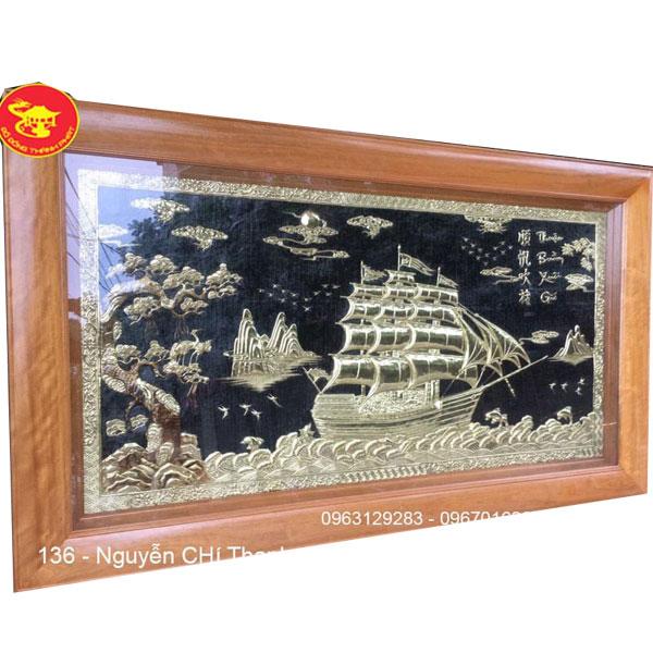 Tranh Đồng Phong Thủy Thuận Buồn Xuôi Gió| Địa Chỉ Bán Tranh Đồng Đẹp