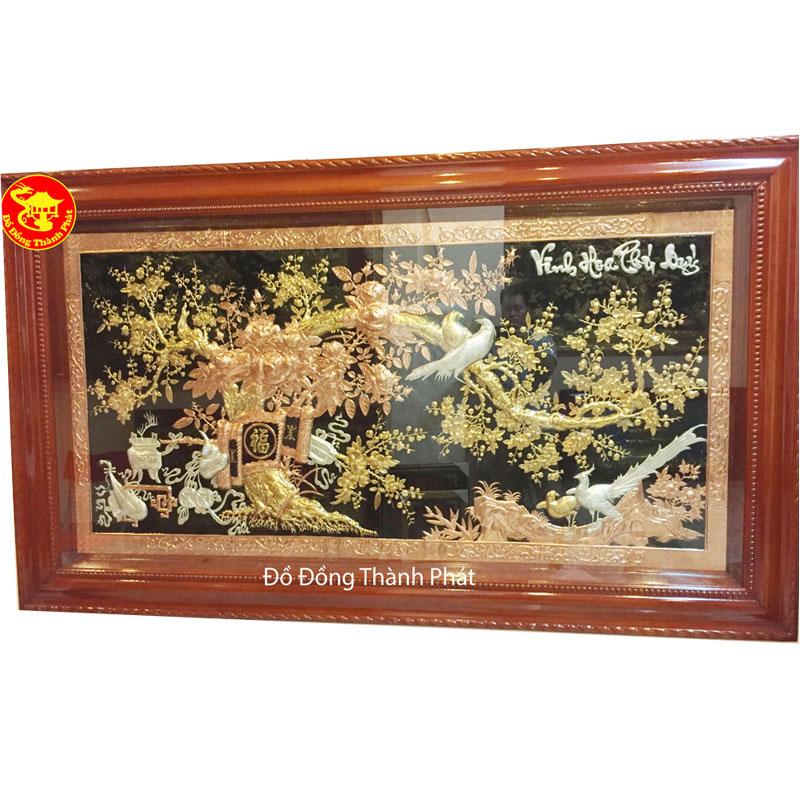 Tranh Đồng Vinh Hoa Phú Quý Mạ Vàng| Địa Chỉ Bán Tranh Đồng Tại Hà Nội