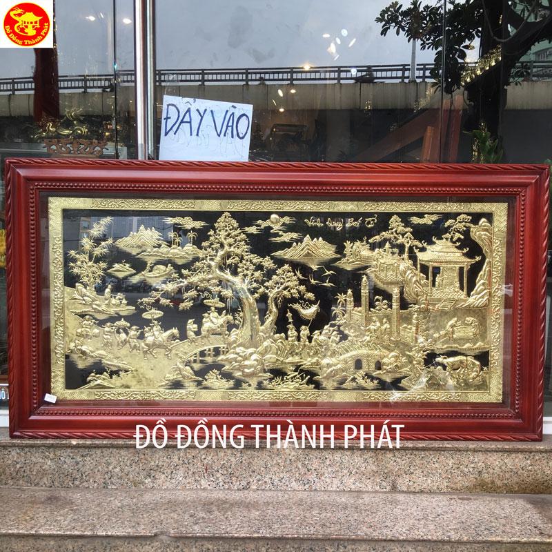 Tranh Vinh Quy bái Tổ Bằng Đồng Dài 1,76 m Treo Nhà Thọ Nguyễn Hà Nội