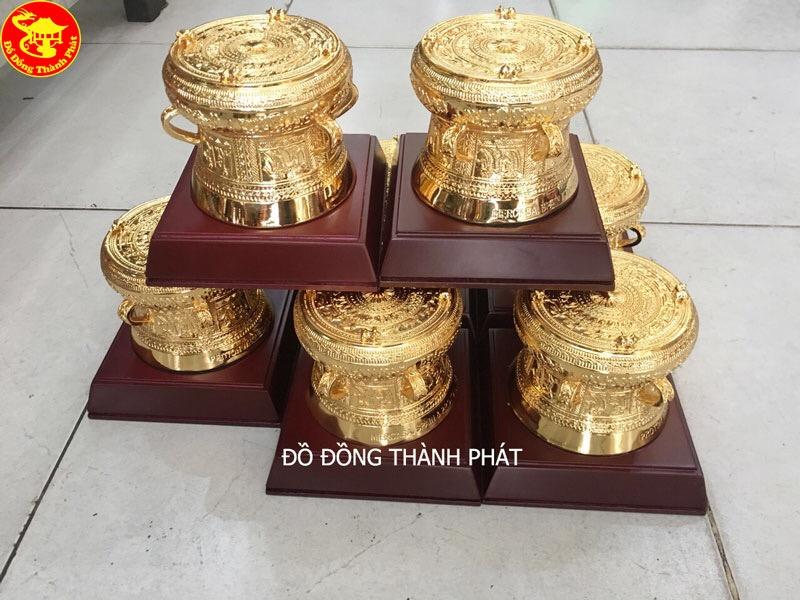 Trống Đồng Quà Tặng - Trống Đồng Đông Sơn Mạ Vàng