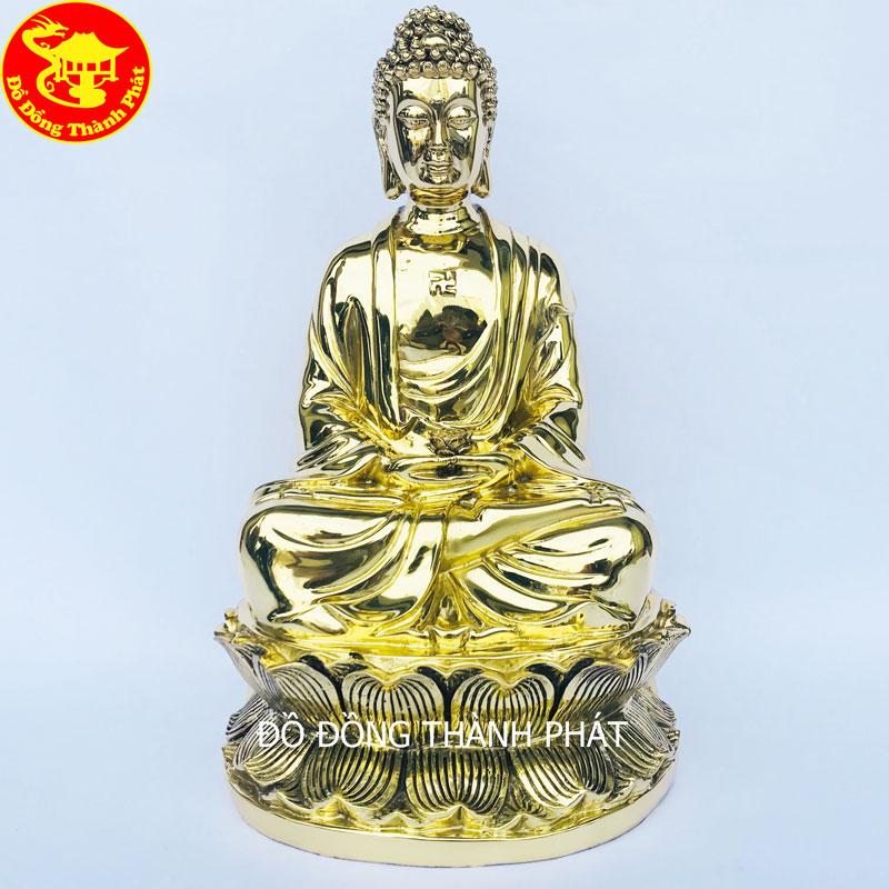 Tượng Phật A Di Đà Bằng Đồng Vàng Cao 39cm Bán Tại Hà Nội, Đà Nẵng, Sài Gòn