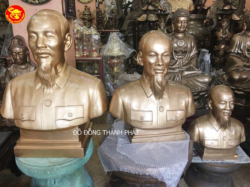 Tượng Đồng Bác Hồ Bán Thân Diện Đẹp Cao 70cm Tại Nam Định