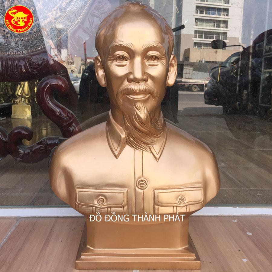 Địa Chỉ Bán Tượng Bác Hồ Bằng Đồng Bán Thân Cao 42cm Tại Hà Nam