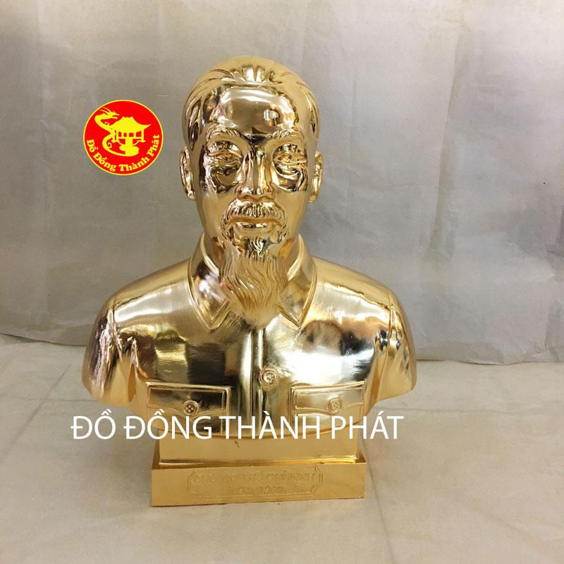 Mẫu Tượng Chân Dung Bán Thân Bác Hồ Mạ Vàng Cao 40cm Tại Hà Nội