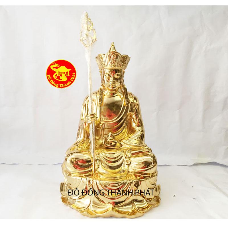 Tượng Đồng Bồ Tát Địa Tạng mạ vàng đẹp| Địa chỉ bán tượng phật uy tín Hà Nội, Đà Nẵng, HCM