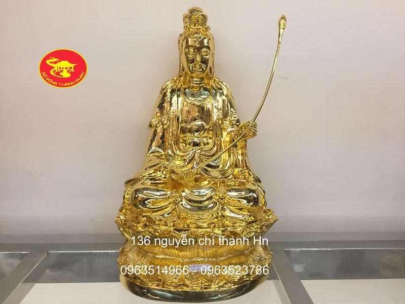 Tượng Đồng Quán Thế Âm Đại Thế Chí Mạ Vàng Cao Cấp tại Hà Nội