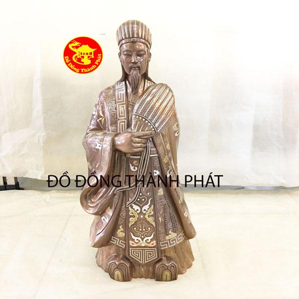 Tượng Khổng Minh Khảm Tam Khí Hàng Kỹ Đẹp Cho Khách Hòn Gai Quảng Ninh   Tượng Khổng Minh Diện Đẹp
