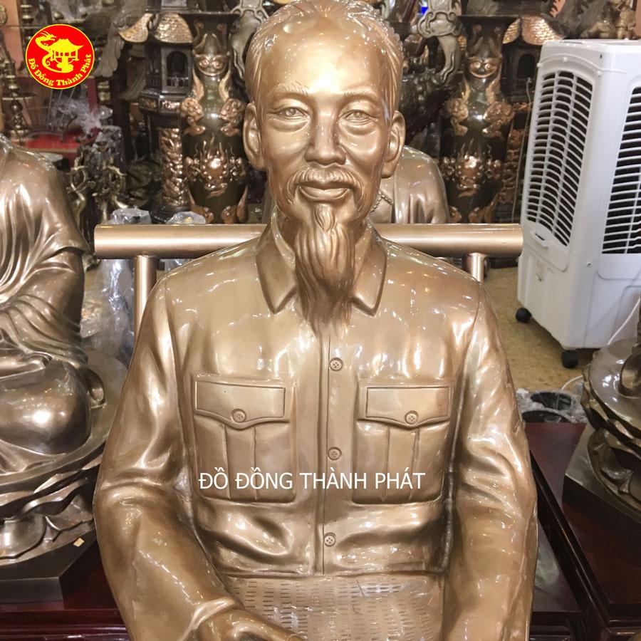 10 mẫu tượng Bác Hồ bằng đồng bán thân diện đẹp bán tại Hà Nội, Đà Nẵng, Sài Gòn