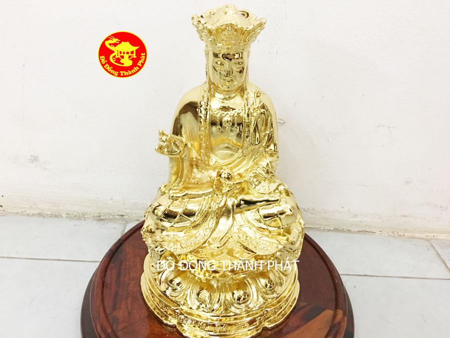 Tượng Đồng Bồ Tát Vương Địa Tạng Mạ Vàng Cao Cấp 24k