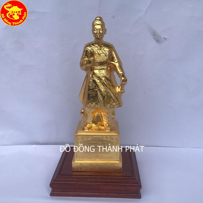 Tượng Đồng Trần Quốc Tuấn - Hưng Đạo Vương Mạ Vàng Cao 50cm