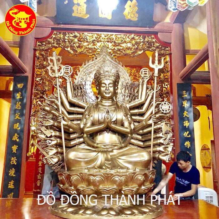 Đúc Tượng Phật Trăm Tay Nghìn Mắt Cao 1,50m