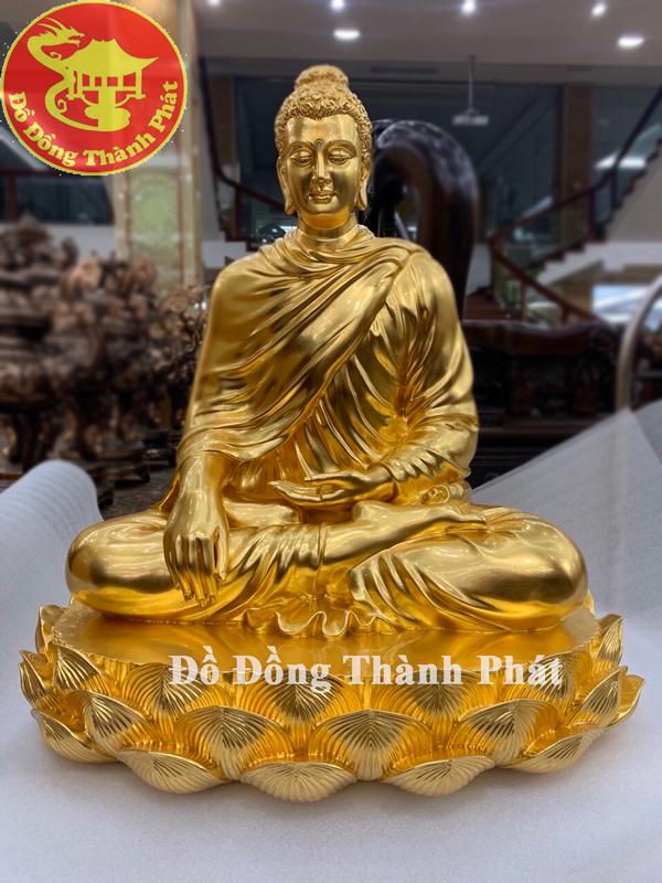 Tượng Ngài Đức Phật Adida Bằng Đồng Mạ Vàng 24k