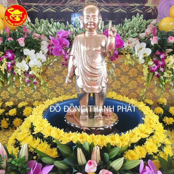 Tượng Phật Đồng Thích Ca Chỉ Thiên Cao 81cm Bán Tại Hà Nội, Đà Nẵng, Sài Gòn