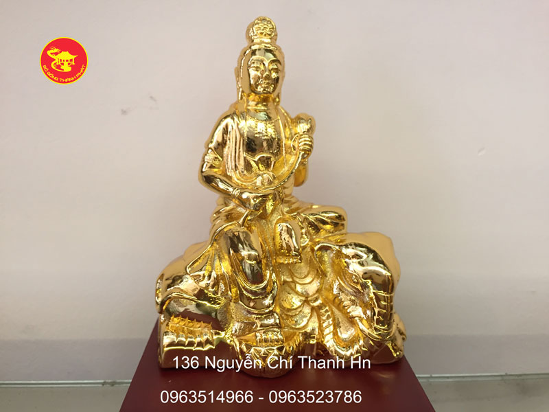 Tượng Đồng Bồ Tát Phổ Hiền Mạ Vàng Cao Cấp Tại Hà Nội