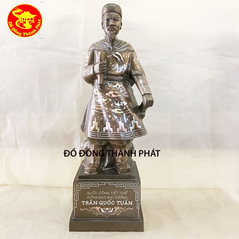 Tượng Đồng Trần Quốc Tuấn Khảm Tam Khí Cao Cấp - Tượng Đồng Phong Thủy