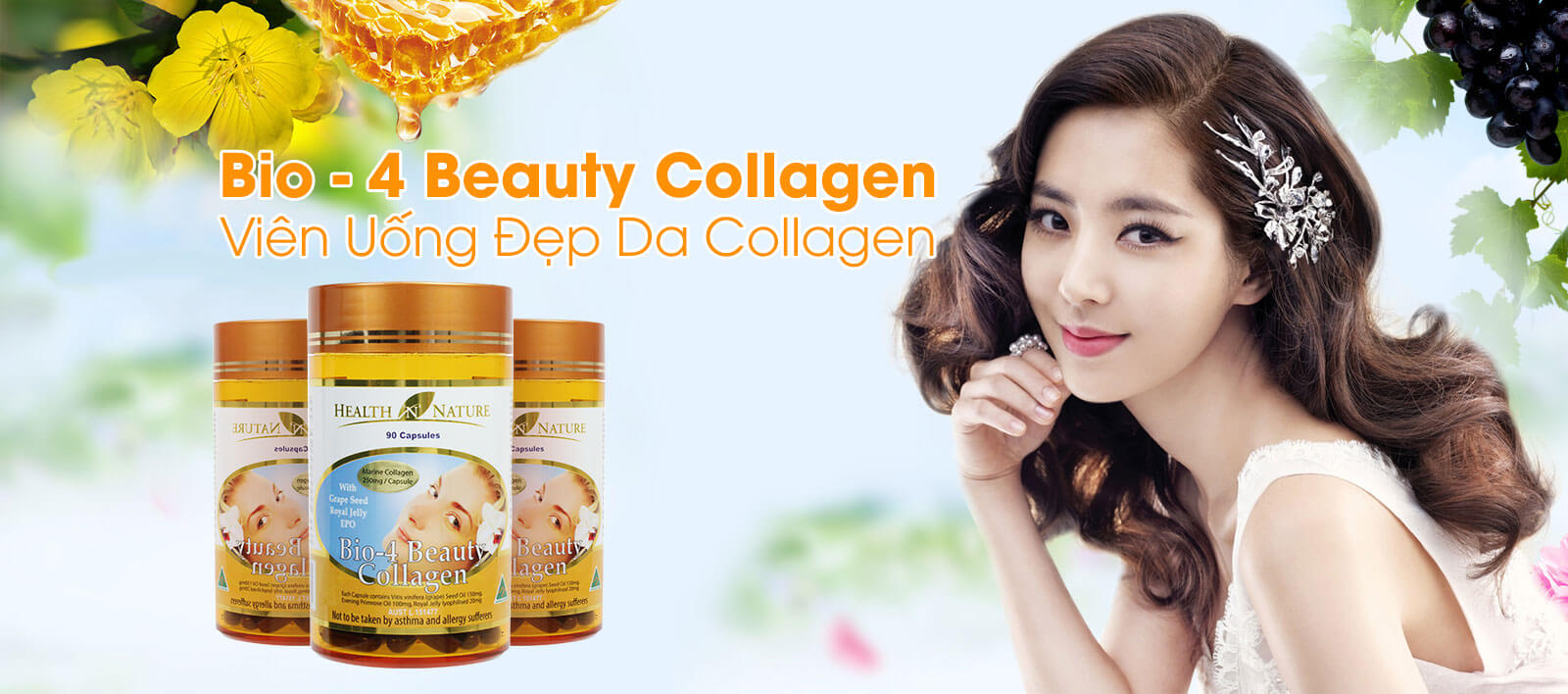 HN Bio - 4 Beauty Collagen 250mg - Viên uống đẹp da Collagen