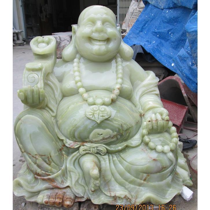Tượng di lặc ngồi bằng đá xanh tự nhiên