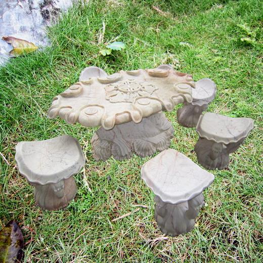 Bộ bàn tròn 5 ghế điêu khắc