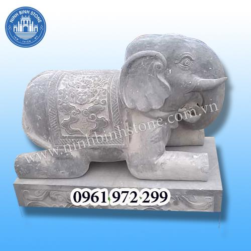 Tượng voi đá 010