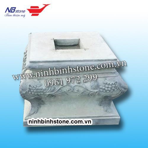 Chân cột vuông bằng đá NBS-CTĐ09