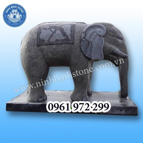 Tượng voi đá 011