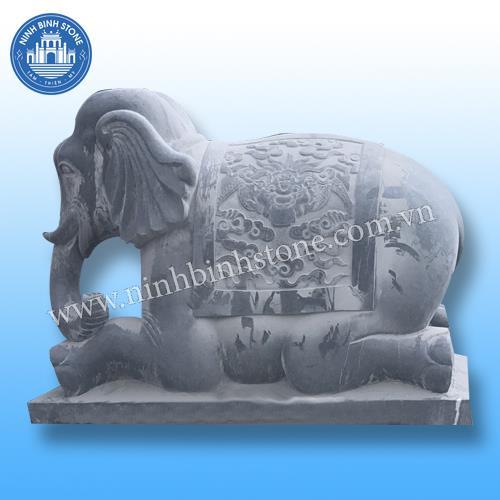 Tượng voi đá 012