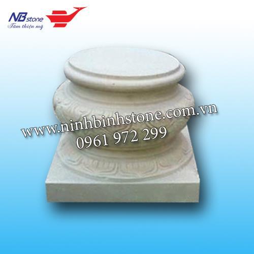 Chân tảng đá cột tròn màu vàng NBS-CTĐ14