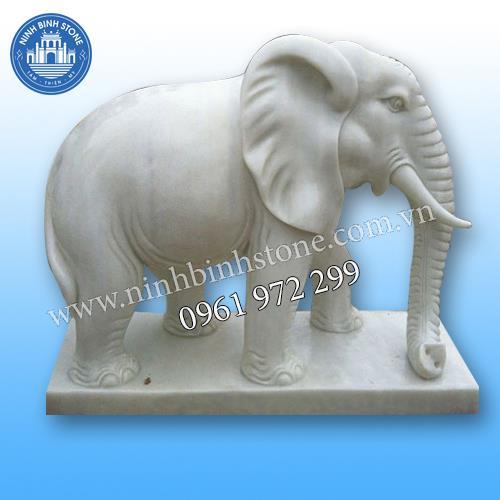 Tượng voi đá 014