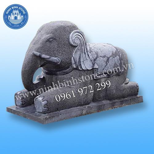 Tượng voi đá 015