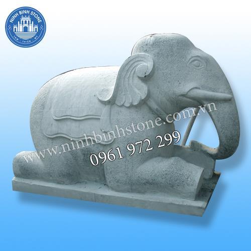 Tượng voi đá 018