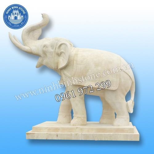 Tượng voi đá 019