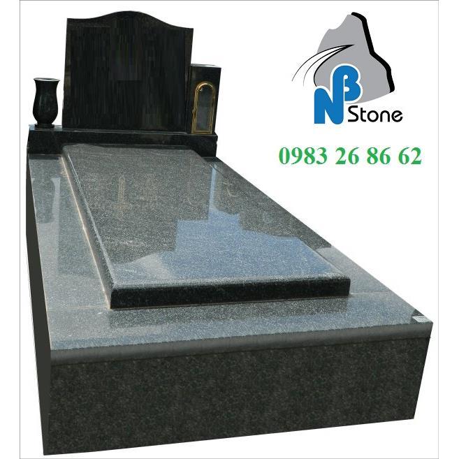 Mộ đá granite đơn giản mã 02B