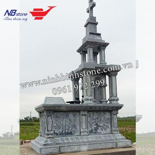 Mẫu Mộ Công Giáo Bằng Đá NBCG34