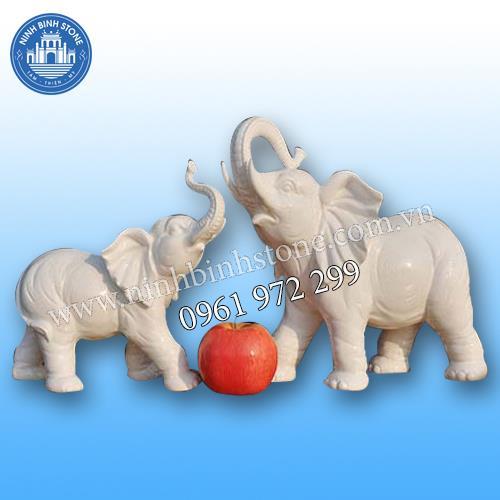 Tượng voi đá 022