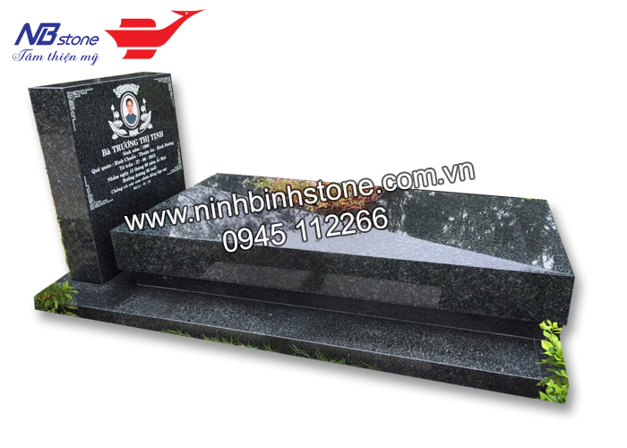 Mộ đẹp đá hoa cương NBS-HC048