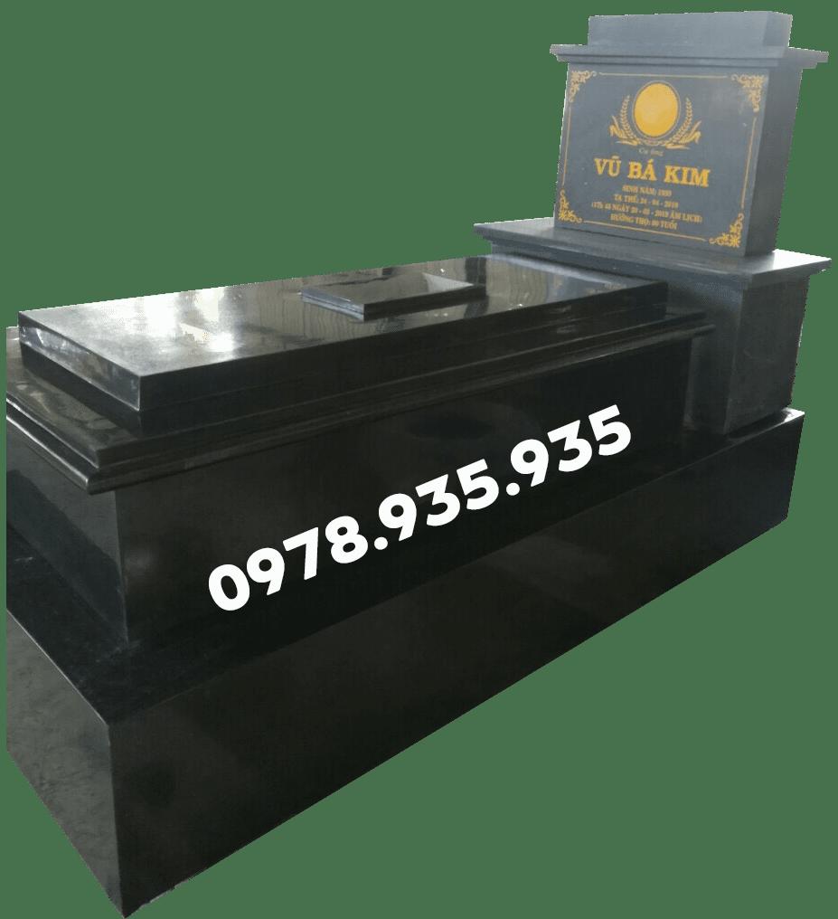Mẫu mộ đá hoa cương đơn đen NBS-MĐHC30