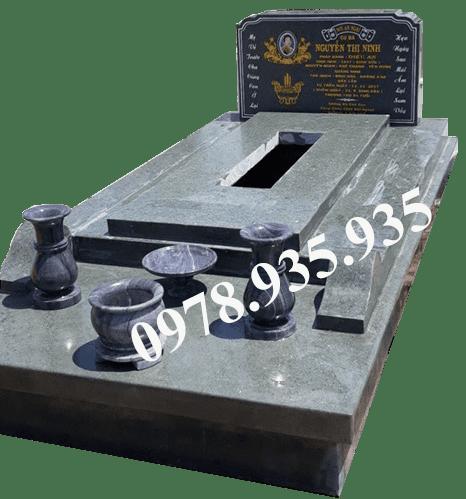 Mẫu mộ đá hoa cương xanh rêu NBS-MĐHC32