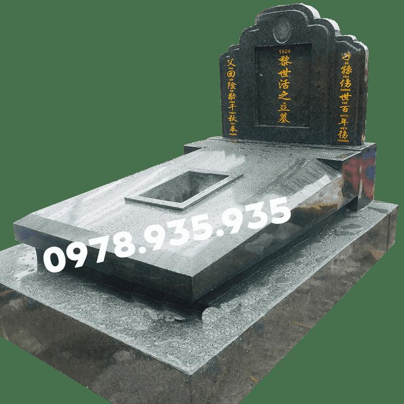 Mẫu mộ đá hoa cương xanh rêu NBS-MĐHC31
