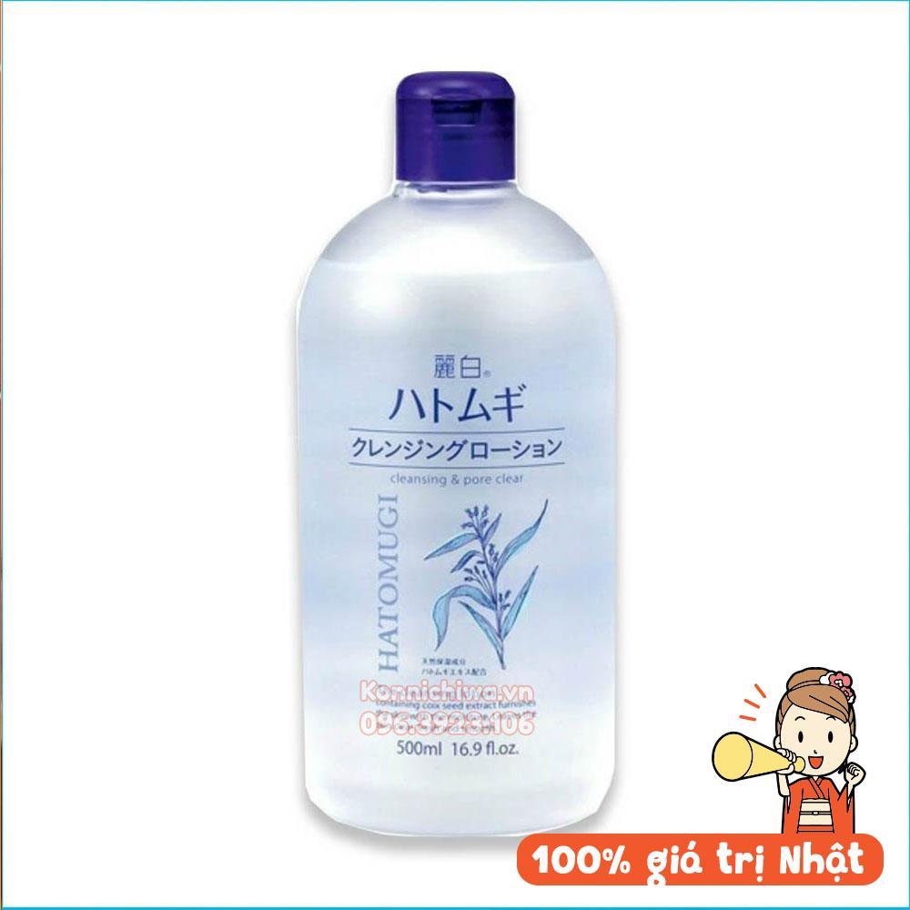 nuoc-tay-trang-lanh-tinh-chiet-xuat-y-di-hatomugi-cleansing-pore-clear-chai-500m