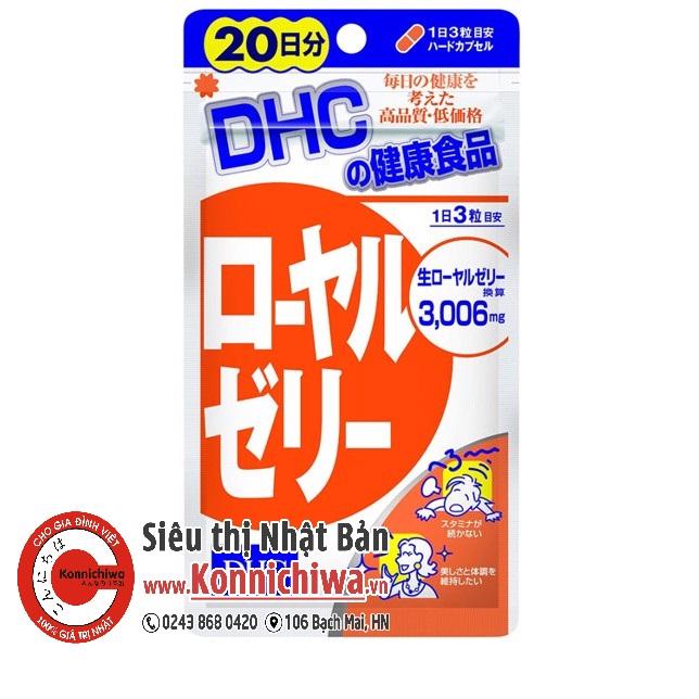 vien-dep-da-tu-sua-ong-chua-dhc-royal-jelly-goi-20-ngay