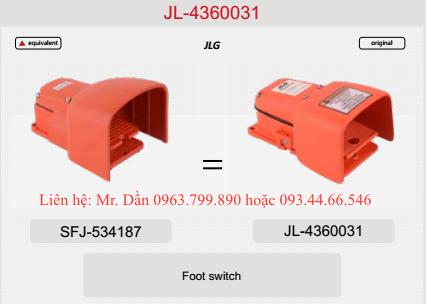 Bàn đạp xe nâng người JLG E400AJP, 450AJ, 800AJ, 1250AJP, 860SJ, 1350SJP