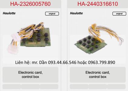 Bảng điện điều khiển xe nâng người Haulotte HA12IP, HA15IP