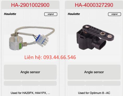 Cảm biến góc xe haulotte HA20PX, HA41PX, Optimum 8 - AC