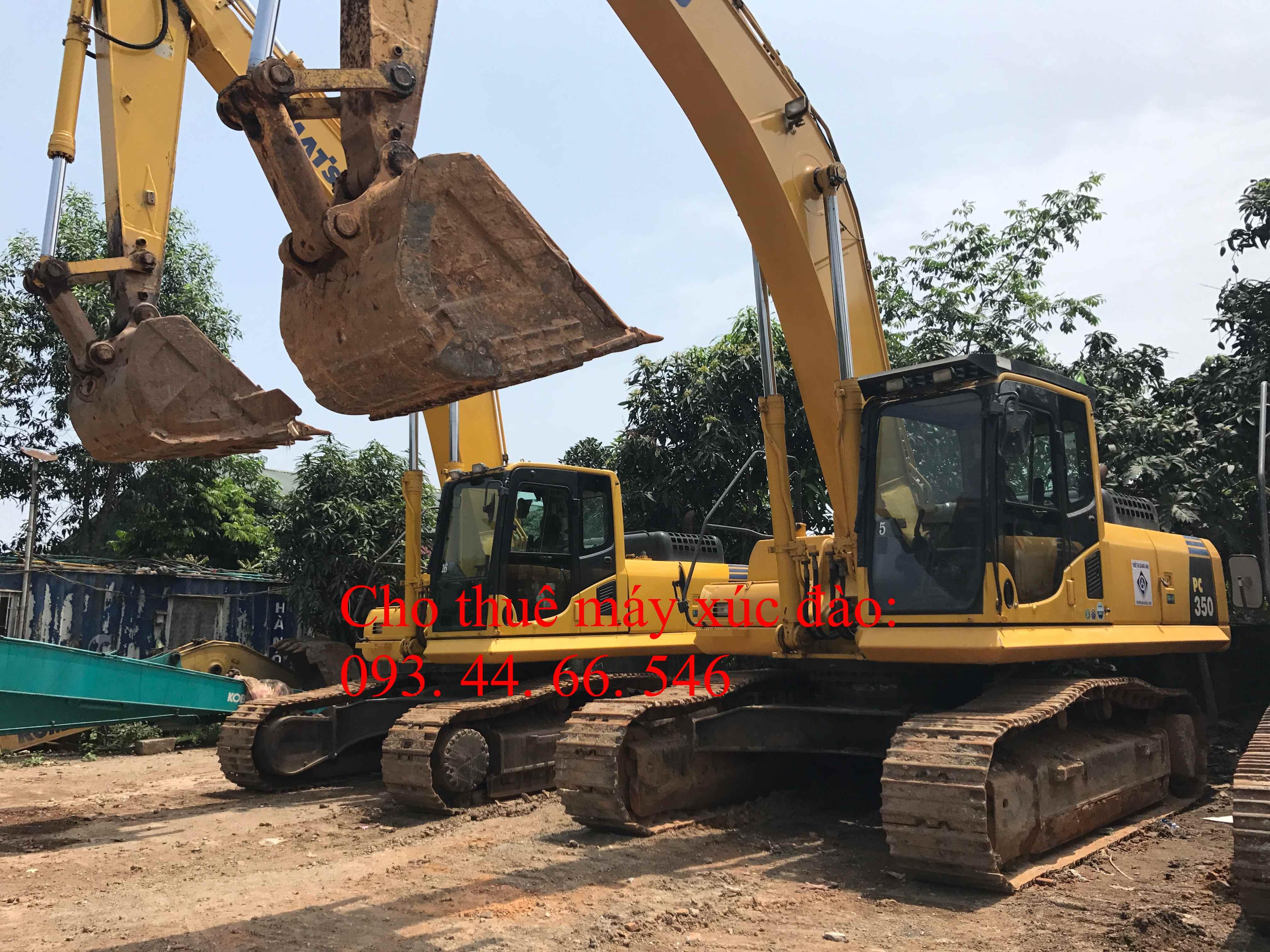 Cho thuê máy xúc đào bánh xích Komatsu PC 350 - 8