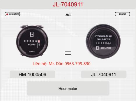 Đồng hồ giờ làm việc xe nâng người JLG