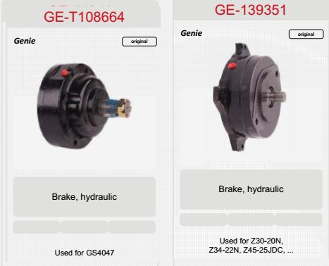 GE-T108664, GE-139351 phanh thủy lực xe nâng genie