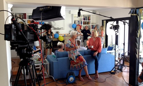 Behind the scenes of filming a TV commercial at home