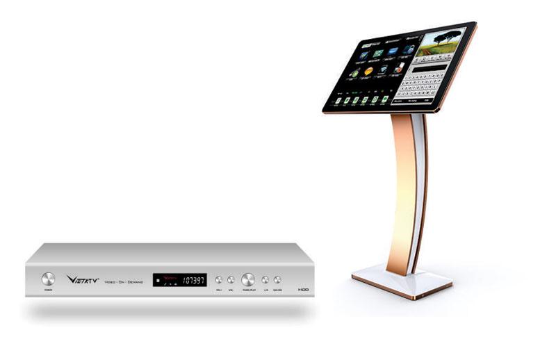 Bộ đầu màn VietKtv HD Pro 4T + Màn 22 inch