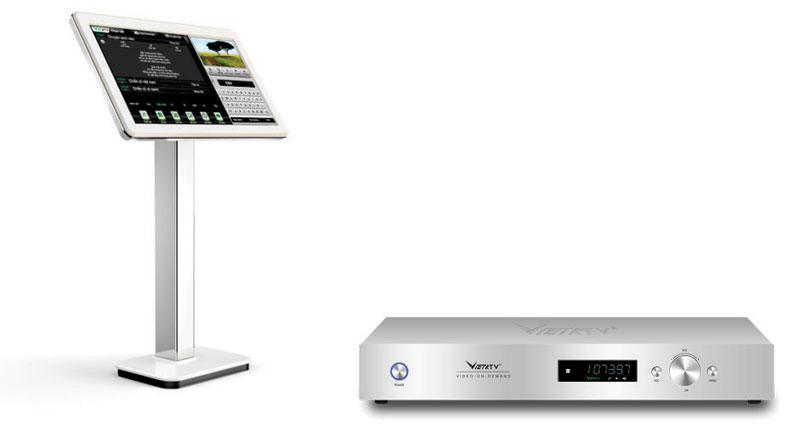Bộ đầu màn VietKtv HD Plus 4T + Màn 21,5 inch